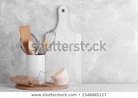 Brush for dishware on white Stock photo © vtls