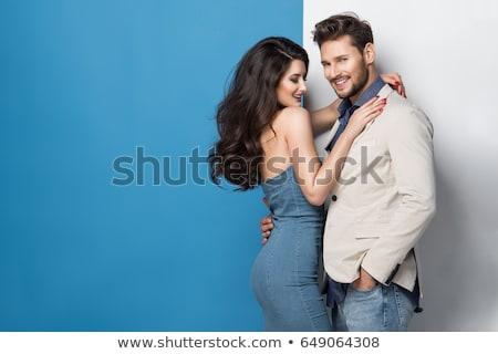 Belo muscular modelo masculino jeans bom cópia espaço Foto stock © restyler