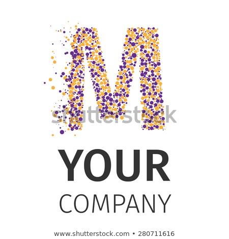 ábécé részecskék logotípus m betű logo vektor Stock fotó © netkov1