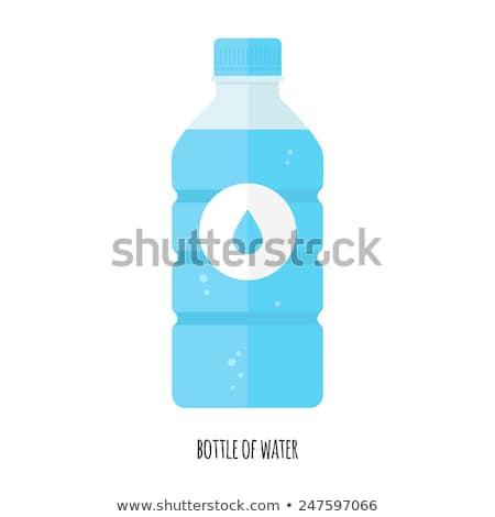 минеральная · вода · бутылок · природы · синий · пластиковых · пробка - Сток-фото © feverpitch