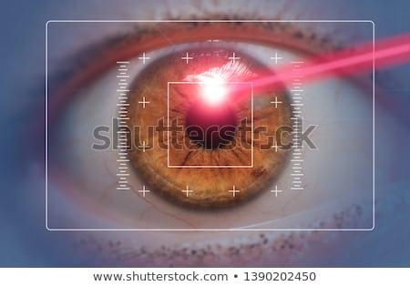 Tıbbi kırmızı bulanık metin hapları şırınga Stok fotoğraf © tashatuvango