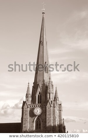 St Martin in the Bull Ring church in Birmingham, UK. Black and white Stock photo © photocreo