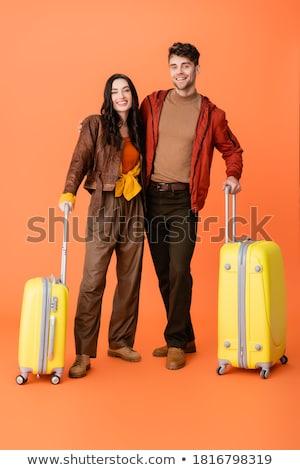 Pomarańczowy bagaż ilustracja biały podróży nauki Zdjęcia stock © bluering