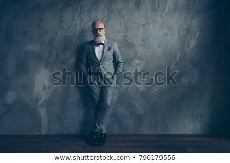 肖像 深刻 エレガントな 男 タキシード 立って ストックフォト © feedough