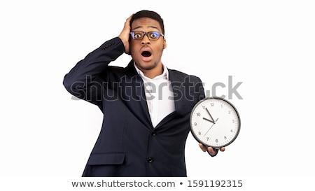 iş · adamı · zaman · çalışma · saat · iş · para - stok fotoğraf © rastudio
