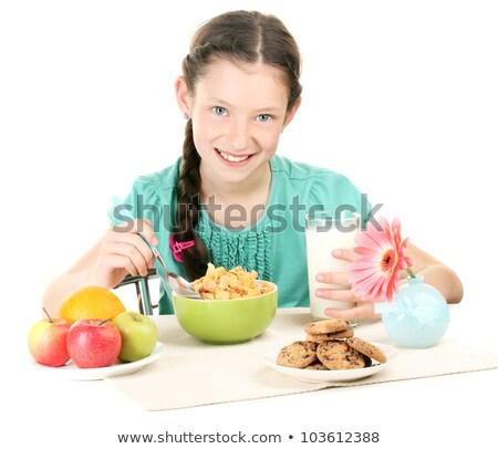 süt · çocukluk · sağlık · çikolata · turuncu - stok fotoğraf © julenochek