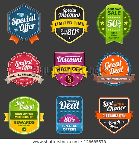 Discount Deal Vector Icon Button Design Stock photo © rizwanali3d