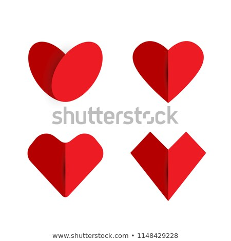 рубин · красный · сердце · вектора · икона · тень - Сток-фото © romvo