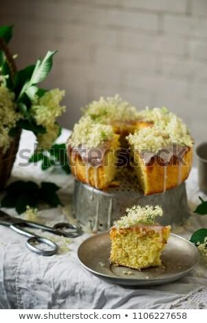 Elderflower and Orange Bundt Cake. Stock photo © zoryanchik