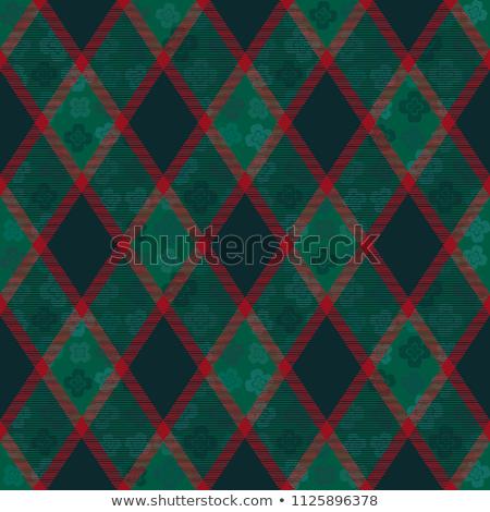 Decorative diagonal tartan inspired vector seamless pattern background 9 Stock photo © sanjanovakovic