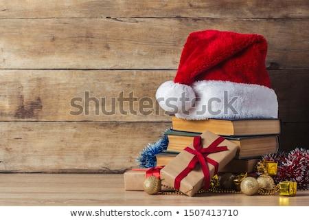 Stock fotó: Karácsony · ajándék · doboz · ébresztőóra · fenyőfa · ág · fedett