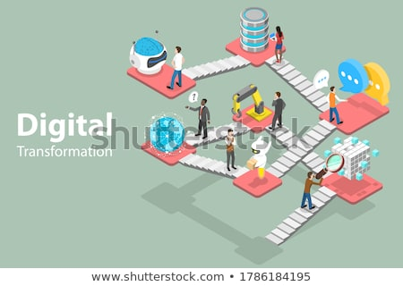 grande · dados · máquina · aprendizagem · análise · informação - foto stock © tarikvision