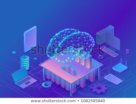 コンピュータ · 技術 · 現代 · ベクトル · アイソメトリック · 実例 - ストックフォト © decorwithme