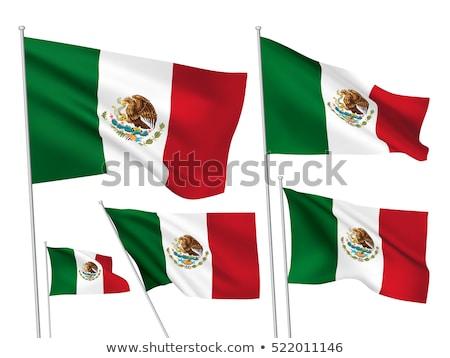 мексиканских · флаг · Мексика · сфере · изолированный · белый - Сток-фото © daboost
