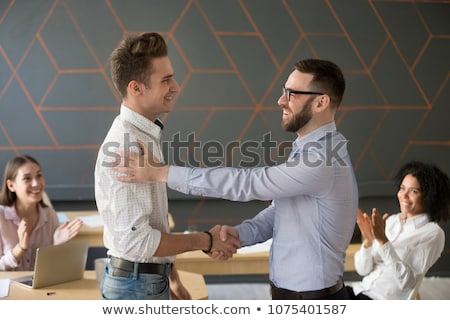 Dostça genç işadamı iş ofis yürütme Stok fotoğraf © Minervastock