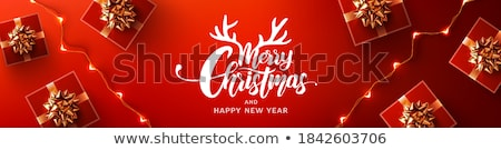 Merry Christmas Special Sale and Winter Holiday Stock photo © robuart