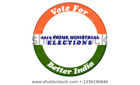 Indiano geral eleição cartaz projeto bandeira Foto stock © SArts