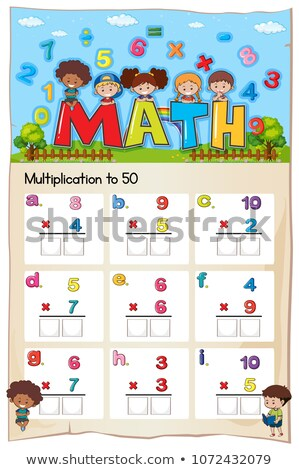 Mathematics Multiplication Work Sheet for Student Stock photo © colematt