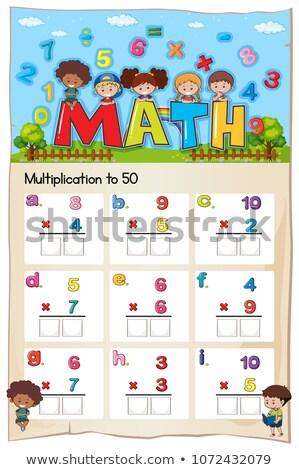 Mathematics Multiplication Work Sheet for Student Stock photo © colematt