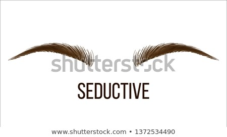 Foto stock: Seductive Thin Vector Hand Drawn Brows Shape