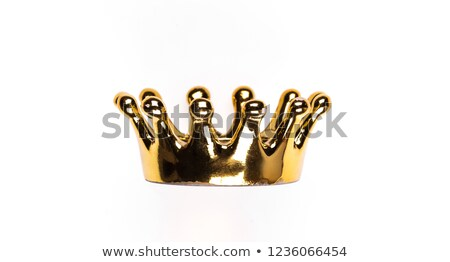 dorado · corona · aislado · blanco · diseno · signo - foto stock © barbaliss