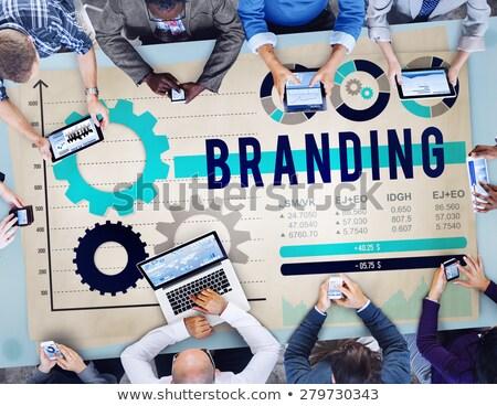 digital marketing people working on brand name stock photo © robuart