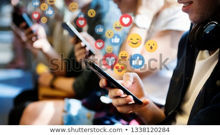 Stock foto: Social · Media · Marketing · sozialen · Förderung · führend · Blogger