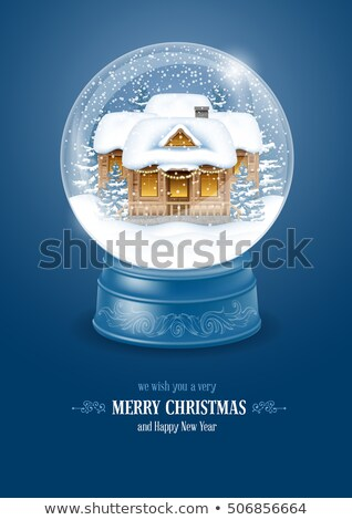 Snow Globe With Decorated Fir-tree Souvenir Vector Stock photo © pikepicture