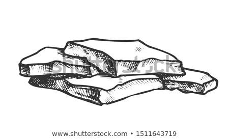 Kő egymásra pakolva monokróm vektor szilárd erős Stock fotó © pikepicture