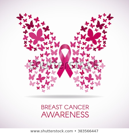 Borstkanker bewustzijn maand ontwerp vlinder vrouw Stockfoto © SArts