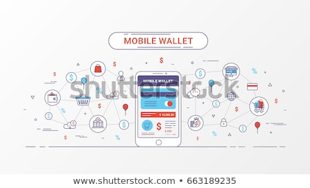 Electronic wallet concept banner, flat style design Stock photo © shai_halud