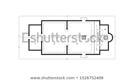 Architektoniczny plan Christian prawosławny kościoła średniowiecznej Zdjęcia stock © Glasaigh