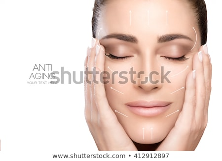 Envejecimiento máscara primer plano retrato agradable femenino Foto stock © Anna_Om