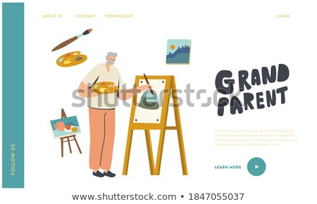 Beroep lineair vector landing pagina sjabloon Stockfoto © Decorwithme