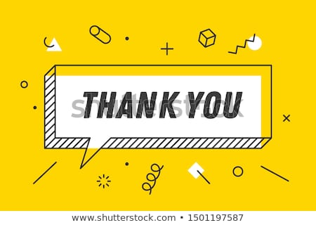 thank you banner speech bubble poster and sticker concept stock photo © foxysgraphic