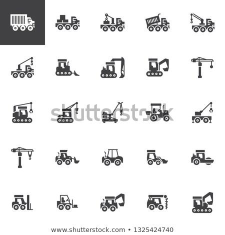 建設 機械 ブルドーザー セット 産業 ストックフォト © robuart