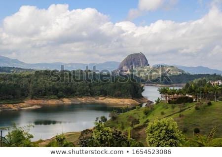 Kő Colombia kilátás természet kék lépcsősor Stock fotó © boggy