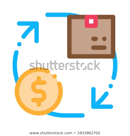 Parcel Payment Postal Transportation Company Icon Vector Illustration Stock photo © pikepicture