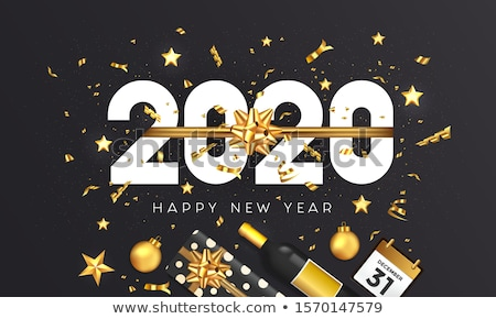 happy new year 2020 creative decorative wallpaper design Stock photo © SArts