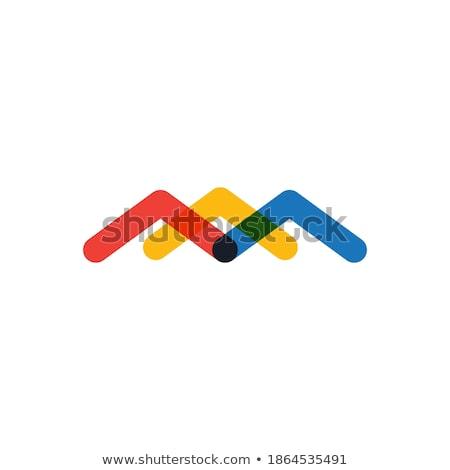 Absztrakt hatszög forma sablon logoterv stock Stock fotó © kyryloff