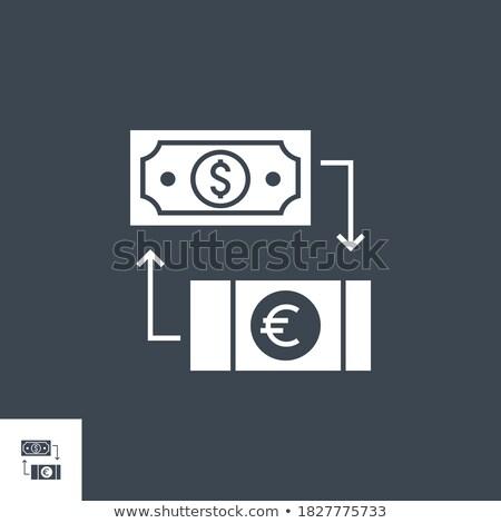 Valuta csere vektor ikon izolált fehér Stock fotó © smoki
