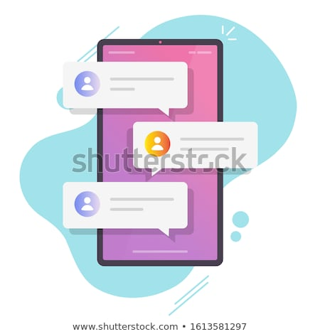 Stock photo: Mobile message cartoon