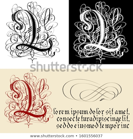 декоративный Готский каллиграфия вектора eps8 Сток-фото © mechanik