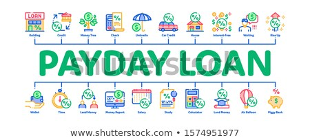 Payday Loan Minimal Infographic Banner Vector Stock photo © pikepicture