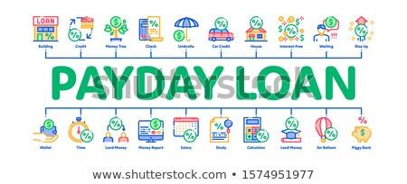 Betaaldag lening banner vector Stockfoto © pikepicture