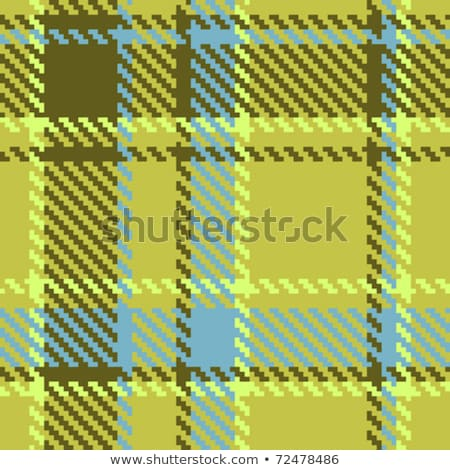Argyle-Plaid Pattern in Green and Brown stock photo © Lisann