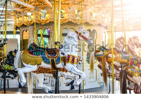 Empty Amusement Park with Attractions Carousels Stock photo © robuart