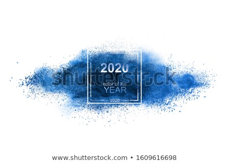 Bleu poudre explosion couleur classique blanche Photo stock © artjazz