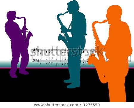 サクソフォン · プレーヤー · コンサート · ライト · サウンド · 再生 - ストックフォト © mayboro