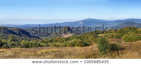 パノラマ 表示 合格 グルジア 山 自然 ストックフォト © borisb17